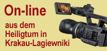 Webcam On-line aus dem Heiligtum in Krakau-Lagiewniki